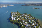 Stanley Point  Waitemata Harbour  and Auckland Harbour Bridge  Auckland  North Island  New Zealand