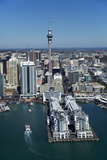 Sky Tower and Auckland Waterfront  Auckland  North Island  New Zealand