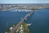 Auckland Harbour Bridge and Waitemata Harbour  Auckland  North Island  New Zealand