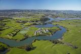 Drury Creek  Acg Strathallan College  and Farmland  Karaka  Auckland  North Island  New Zealand