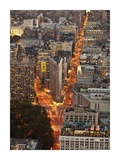 Aerial view of Flatiron Building  NYC