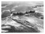 Aerial view of Jupiter Terrace  Yellowstone National Park  Wyoming ca 1941-1942