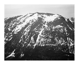 Full view of barren mountain side with snow  in Rocky Mountain National Park  Colorado  ca 1941-19