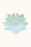 Mindfulness - Lotus Reproduction d'art par Sasha Blake