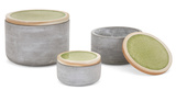 Sisco Cement Lidded Box Trio