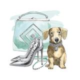Glamour Pups III Reproduction d'art par Beth Grove