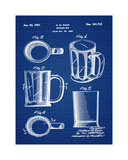 Beer Mug 1951 in Blueprint