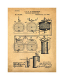 Brewery Patent 1891 Sepia