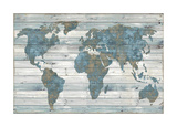 World on Wood Giclée par Jamie MacDowell