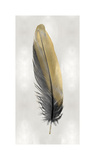 Gold Feather on Silver I