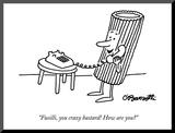 """""""Fusilli  you crazy bastard! How are you"""" - New Yorker Cartoon"""