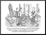 """Worst-case scenario  The renovation goes three years and two million dol…"" - New Yorker Cartoon"