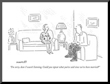 """I'm sorry  dear I wasn't listening Could you repeat what you've said si…"" - New Yorker Cartoon"