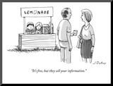"""It's free  but they sell your information"" - New Yorker Cartoon"