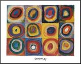 Farbstudie Quadrate mit Konzentrischen Ringen