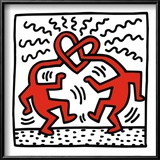 Untitled, c.1989 Reproduction encadrée par Keith Haring