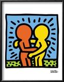 Pop Shop Reproduction encadrée par Keith Haring