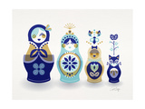 Blue and Gold Russian Dolls