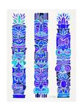 Blue Tiki Totems