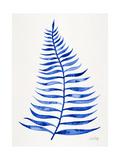 Navy Palm Leaf