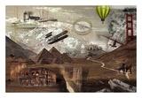 World Travel Reproduction d'art par GraphINC