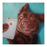 Dog Selfie Reproduction d'art par Lucia Heffernan