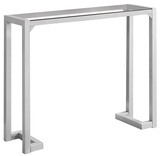 Tempered Glass Hall Console Table - Silver