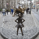 Fearless Girl Wall Street Papier Photo