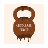 Vector Chocolate Kettlebell with Melting Effect Kettlebel with Label Chocolate Power  Chocolate