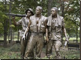 Vietnam memorial soldiers by Frederick Hart  Washington  DC