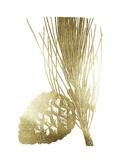 Gold Foil Pine Cones I