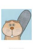 Super Animal - Beaver Reproduction d'art par Tatijana Lawrence