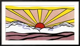 Sunrise, c.1965 Reproduction encadrée par Roy Lichtenstein