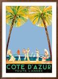 Cote d'Azur Reproduction encadrée par Jean-Gabriel Domergue
