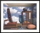 Les Valeurs Personnelles Reproduction encadrée par Rene Magritte