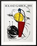 Roland Garros, 1991 Reproduction encadrée par Joan Miró