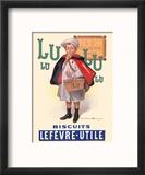 Lu Biscuits - The Little Student (Le Petit Ecolier) - Lefèvre-Utile (LU) Reproduction encadrée par Fermin Bouisset