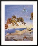 Dream Caused by the Flight of a Bee around a Pomegranate, c. 1944 Reproduction encadrée par Salvador Dalí