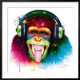 DJ Monkey Reproduction giclée encadrée par Patrice Murciano