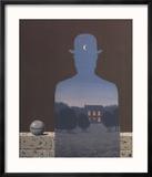 L'Heureux Donateur Reproduction encadrée par Rene Magritte