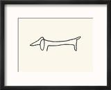 The Dog Reproduction encadrée par Pablo Picasso