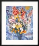 Bouquet des Fleurs Reproduction encadrée par Marc Chagall