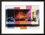 Detail of the Last Supper, c.1986 Reproduction giclée encadrée par Andy Warhol