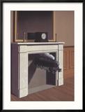 Time Transfixed Reproduction encadrée par Rene Magritte