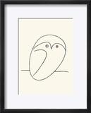 Owl Reproduction encadrée par Pablo Picasso