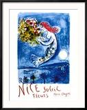 Nice Sun Flowers Reproduction encadrée par Marc Chagall