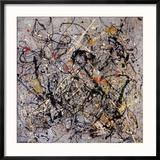 Number 18, 1950 Reproduction encadrée par Jackson Pollock