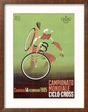 Campionato Mondiale, Ciclo, 1965 Reproduction giclée encadrée par Mancioli