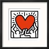 Sans titre, vers 1988 Reproduction encadrée par Keith Haring