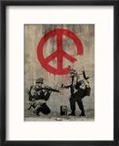 Peace Reproduction encadrée par Banksy